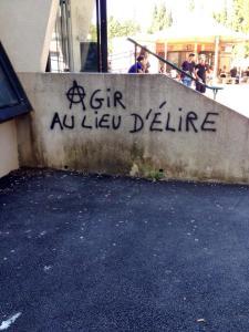Graffiti around uni #revolution