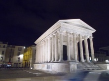 Maison Carrée at night