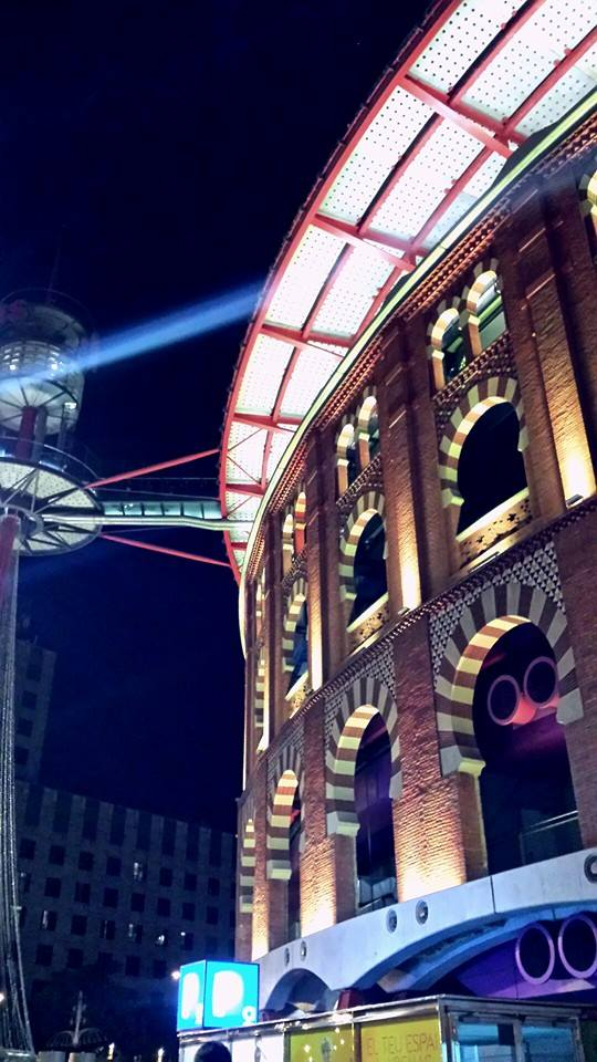 Las Arenas, Barcelona at night