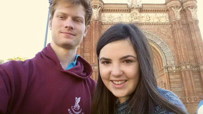 Us by the Arc de Triomf