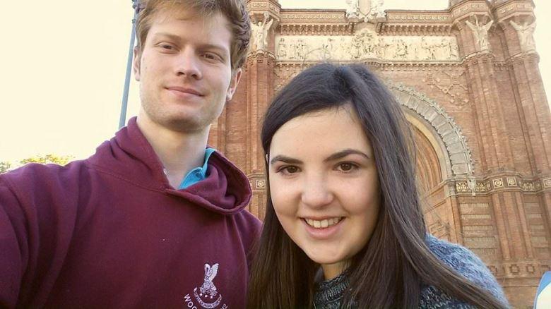 Us by the Arc de Triomf