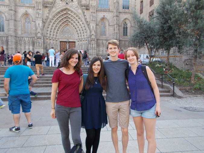 Kam, me, Nathan and jenny outside the cathedral