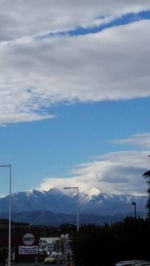 La vue incroyables des montagnes à Perpignan