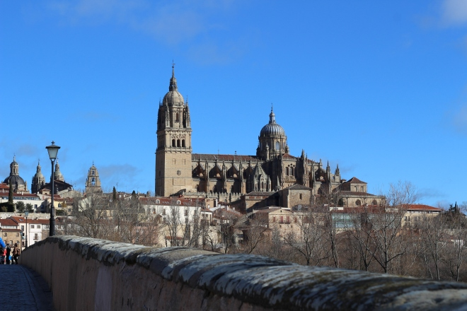 Salamanca, the arrival (29th January). Very cold!