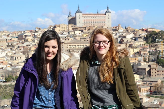 Me and Becca in Toledo! Also went to Ciudad Rodrigo for Carnava, Segovia, Ávilal and Lisbon this month!