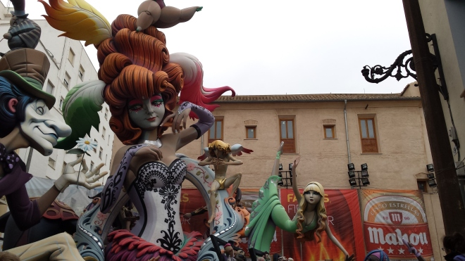 Falla del Pilar, 1st Prize 2015. It was absolutely imcredible - the biggest Falla we saw and very beautiful!