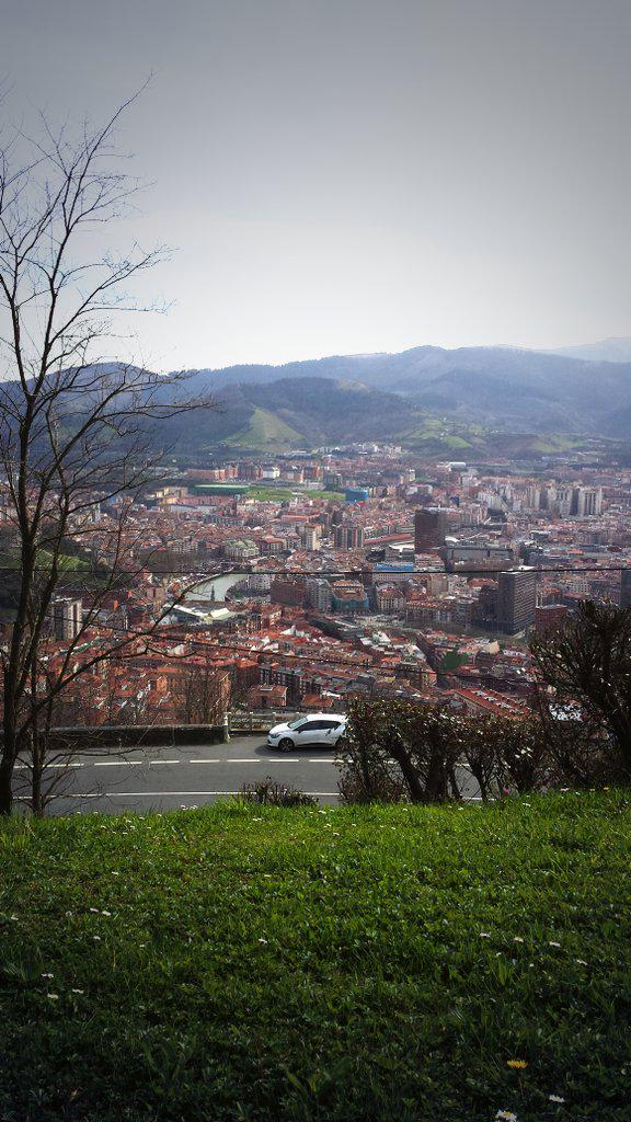 View of Bilbao from the top of the Funicular