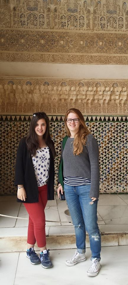 Me and Becca at the Nasrid Palace