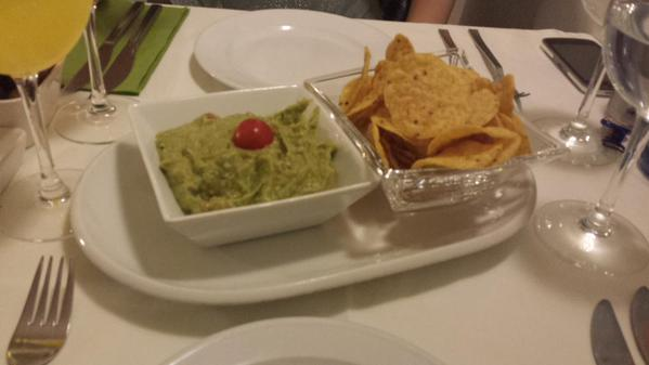 The best nachos and guacamole ever (we got free refills!)