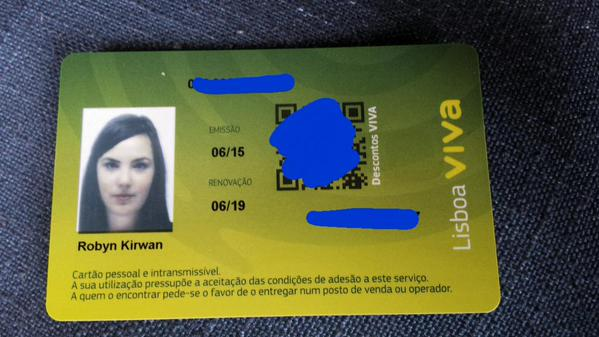 My Lisboa Viva card