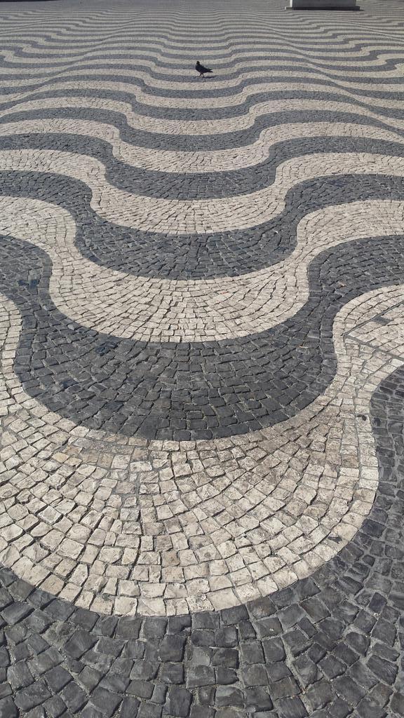 Calçada portuguesa (Portuguese pavements), in Rossio