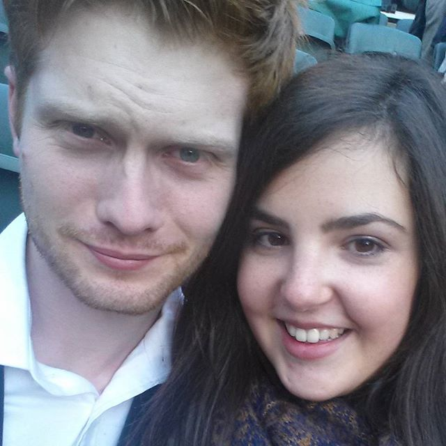 James and I at the open Air Theater