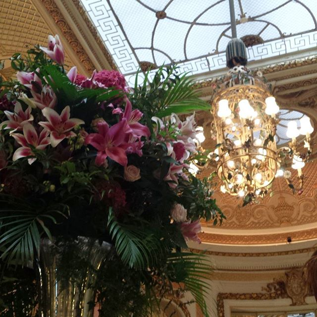 Palm Court ceiling