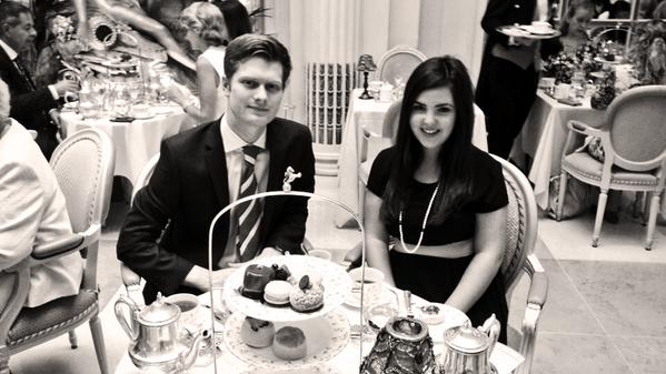James and I having Afternoon Tea at The Ritz