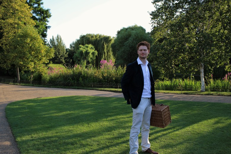 James with his pic-nic hamper