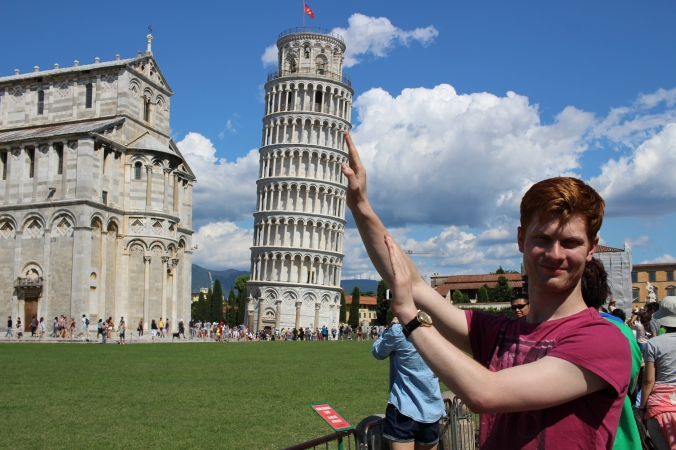 Our attempt at a picture with the Tower