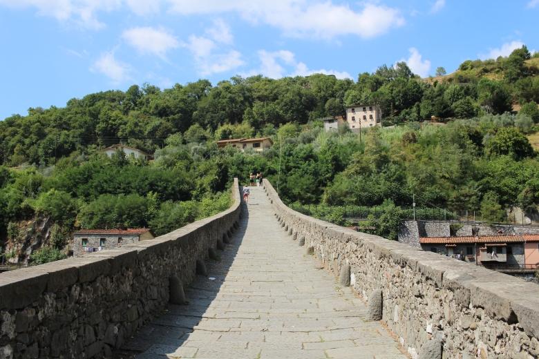 Walking up Devil's Bridge