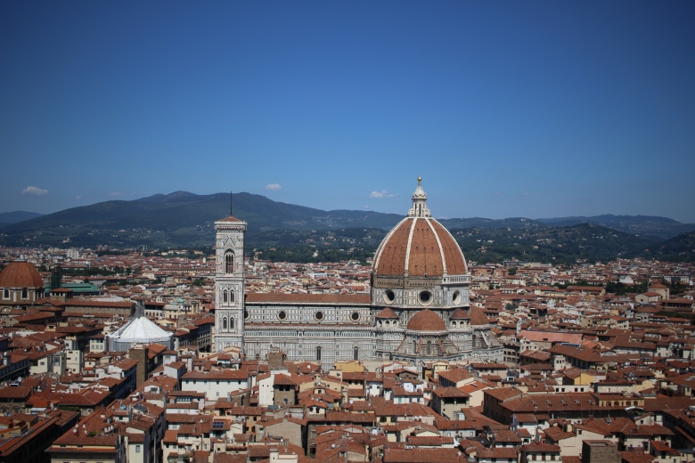 View from the top of the tower of the Palazzo Vecchio
