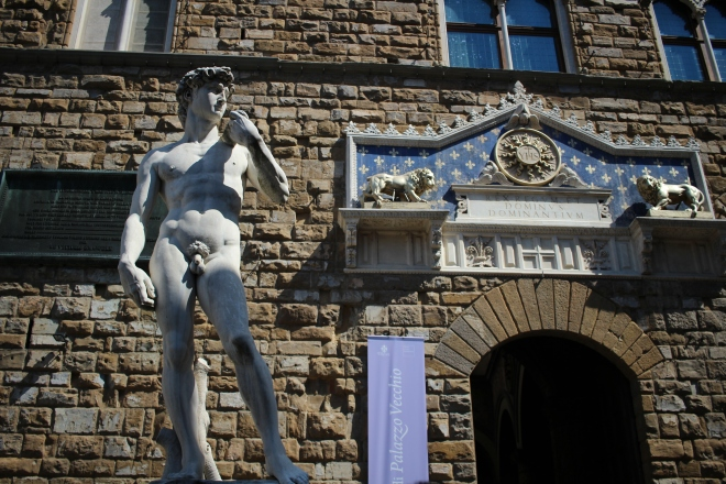 Main entrance to the Palazzo Vecchio