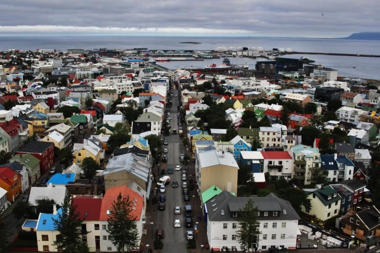 View from Hallgrímskirkja church tower