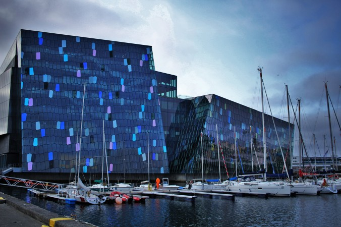 Outside the Harpa