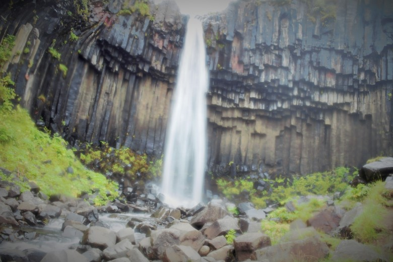Svartifoss, Black Waterfall, featuring basalt columns